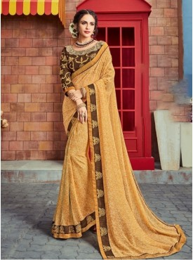 Roykals Textile Georgette Multi Embroidered Saree