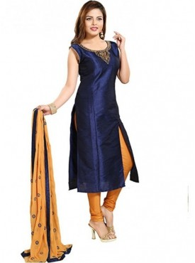 Roykals Textile Picassoe Nevy Blue Designer Readymade Salwar Suit