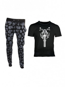 Oneliner Men's Cotton Trackpants & T-shirt Combo
