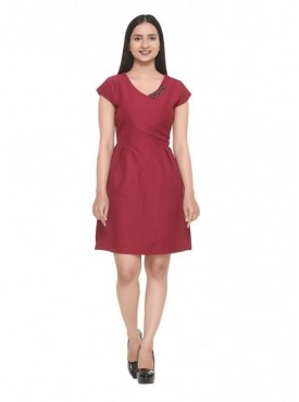Hang & Hold Wine Color Dress