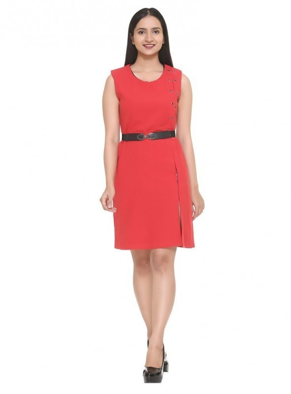 Hang & Hold Red Color Dress