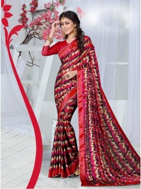 Rinky Fashion Silk Multi Printed Saree