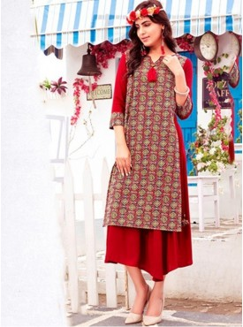 Rinky Fashion Cotton Multi Stitched Kurti