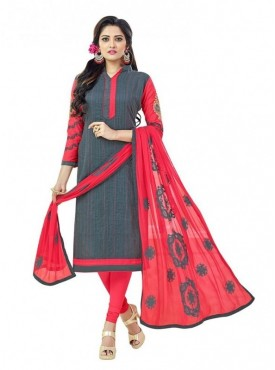 Aasvaa Cotton Grey Color Salwar Suit