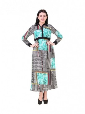 Women Full Sleeves Georgette Dress