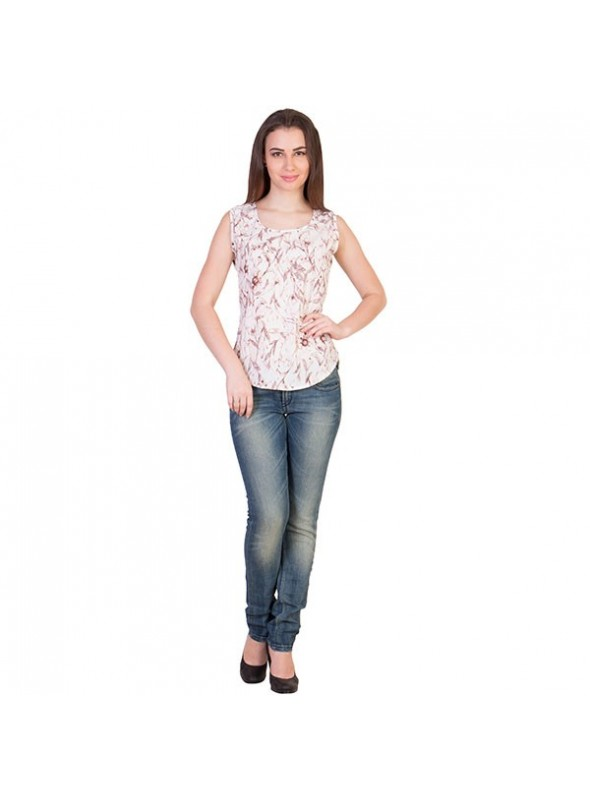 THE RUNNER Ivory Floral Top