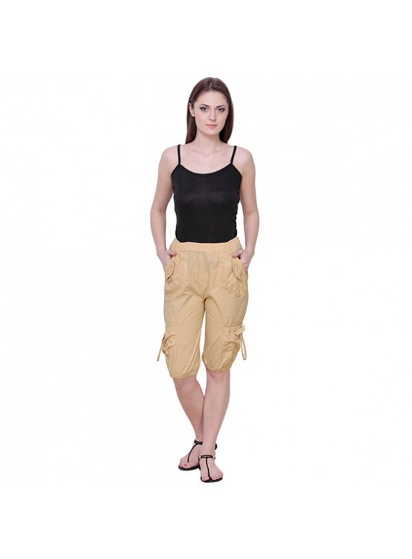 THE RUNNER Cream Cotton Capri
