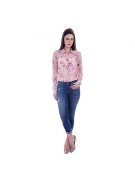 THE RUNNER Peach Floral Shirt
