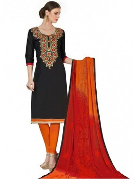 Viva N Diva Black Colored Chanderi Salwar Suit