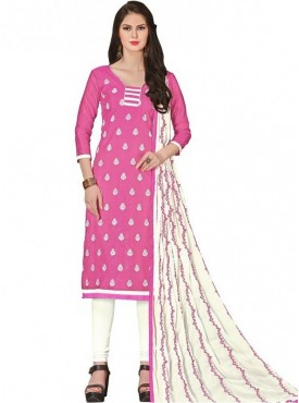 Viva N Diva Pink Colored Chanderi Salwar Suit