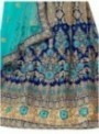 Aasvaa BLUE Color Net Designer Wedding Lehenga Choli