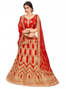 Aasvaa RED Color SILK Designer Wedding Lehenga Choli