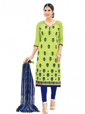 Viva N Diva Green Colored Chanderi Salwar Suit