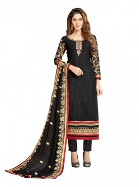 Viva N Diva Black Colored Georgette Salwar Suit