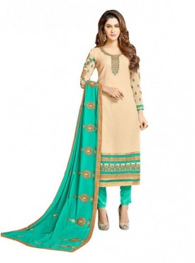 Viva N Diva Cream Colored Georgette Salwar Suit