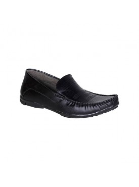 BACHINI Black Sole PVC Upper Material Synthatic Loafer For MENS Shoes