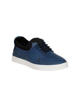 BACHINI Blue Sole PVC Upper Material Synthatic Laceup For MENS Shoes