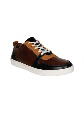 BACHINI Brown Sole PVC Upper Material Synthatic Laceup For MENS Shoes