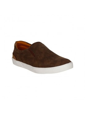 BACHINI Brown Sole PVC Upper Material Synthatic Slipon For MENS Shoes