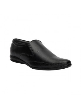 BACHINI Black Sole PVC Upper Material Synthatic Slipon For MENS Shoes