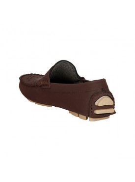 BACHINI Brown Sole PVC Upper Material Synthatic Loafer For MENS Shoes