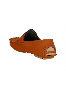 BACHINI Tan Sole PVC Upper Material Synthatic Loafer For MENS Shoes