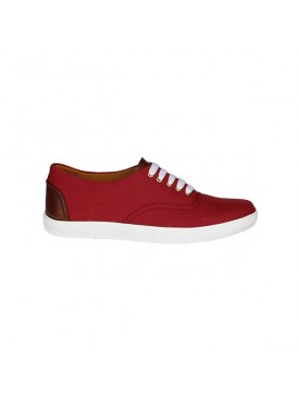 BACHINI Maroon Sole PVC Upper Material Synthatic Laceup For MENS Shoes
