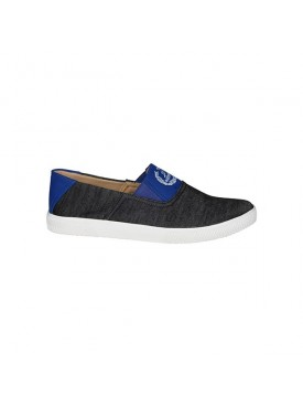BACHINI Grey Blue Sole PVC Upper Material Synthatic Loafer For MENS Shoes