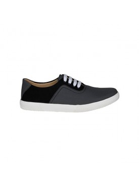 BACHINI Grey Black Sole PVC Upper Material Synthatic Laceup For MENS Shoes