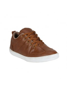 BACHINI Tan Sole PVC Upper Material Synthatic Laceup For MENS Shoes