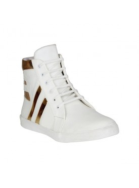 BACHINI White Sole PVC Upper Material Synthatic Laceup For MENS Shoes