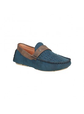 BACHINI Blue Sole PVC Upper Material Synthetic Leather Loafer For MENS Shoes