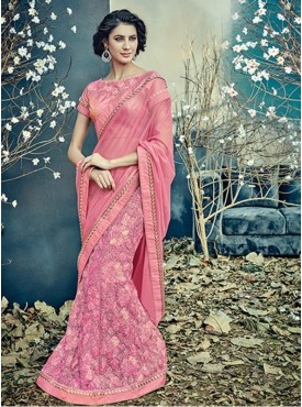 Mahotsav Group Pink Color Fancy net Designer Saree