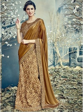 Mahotsav Group Beige Color Fancy net Designer Saree