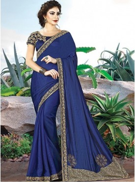 Mahotsav Group Royal Blue Color Silk Designer Saree