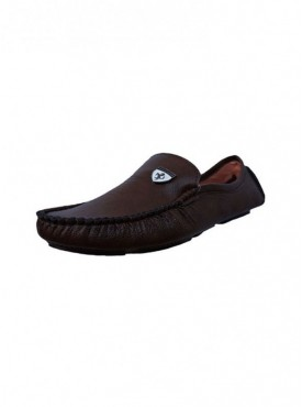 Brawo Brown Color Sole PVC Upper Material Synthatic MENS Loafers