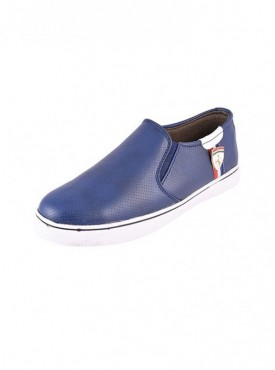 Brawo Blue Color Sole PVC Upper Material Synthatic MENS Canvas