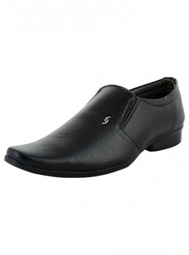 T-Rock Men's Synthetic Leather Black Formal Shoes