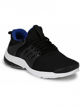 T-Rock Premium Quality Men's Black Sports Running Shoes