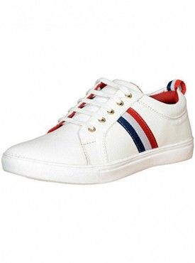 T-Rock Men's White Sneakers Shoes
