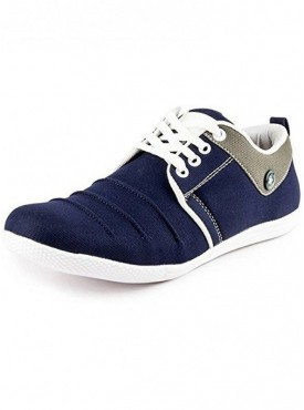 T-Rock Men's Blue Canvas Daily Wear Sneaker