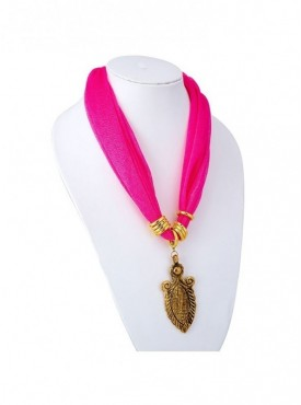 Roykals Textile Gold Plated Pink Scarf Fabric Chiffon Artificial Jewellery