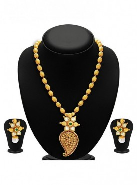 Roykals Textile Alloy-Gold Plated Imitation Necklace