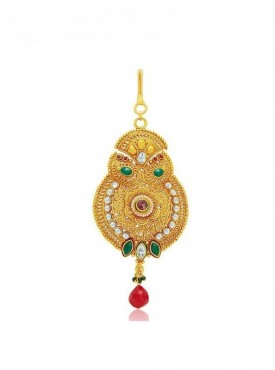 Roykals Textile Green Color Alloy-Gold Plated Imitation Jewellery-Passa