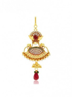 Roykals Textile Maroon Color Alloy Gold Plated Imitation Jewellery-Passa