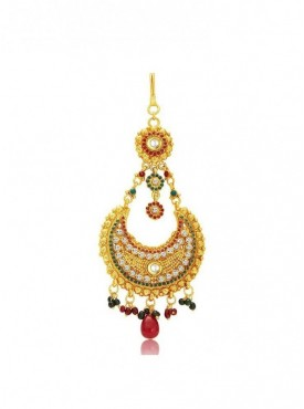 Roykals Textile Golden Color Alloy Gold Plated Imitation Jewellery-Passa
