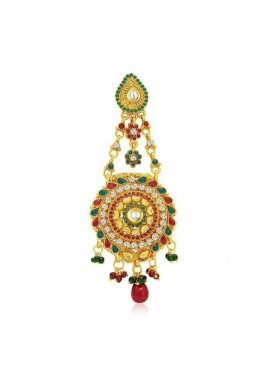 Roykals Textile Maroon Color Alloy-Gold Plated Imitation Jewellery-Passa