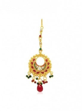 Roykals Textile Red Color Alloy-Gold Plated Imitation Jewellery-Passa