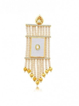 Roykals Textile Cream Color Alloy Gold Plated Imitation Jewellery-Passa