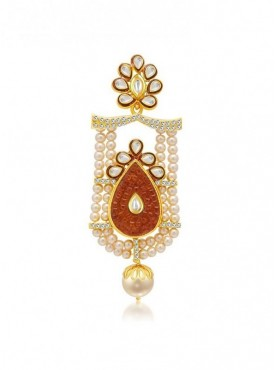 Roykals Textile Brown Color Alloy-Gold Plated Imitation Jewellery-Passa